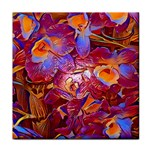 Floral Artstudio 1216 Plastic Flowers Tile Coasters