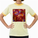 Floral Artstudio 1216 Plastic Flowers Women s Fitted Ringer T-Shirts