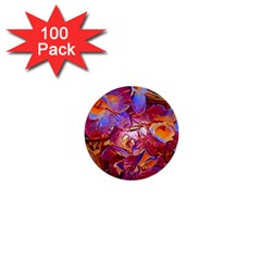 Floral Artstudio 1216 Plastic Flowers 1  Mini Buttons (100 Pack)