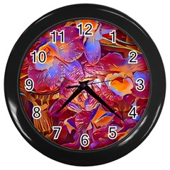 Floral Artstudio 1216 Plastic Flowers Wall Clocks (black)