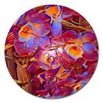 Floral Artstudio 1216 Plastic Flowers Magnet 5  (Round)