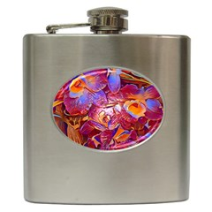 Floral Artstudio 1216 Plastic Flowers Hip Flask (6 Oz)