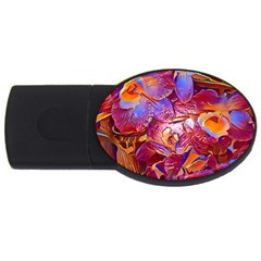 Floral Artstudio 1216 Plastic Flowers Usb Flash Drive Oval (2 Gb)