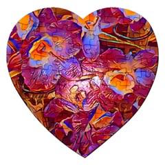 Floral Artstudio 1216 Plastic Flowers Jigsaw Puzzle (heart)