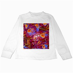 Floral Artstudio 1216 Plastic Flowers Kids Long Sleeve T Shirts