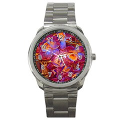Floral Artstudio 1216 Plastic Flowers Sport Metal Watch
