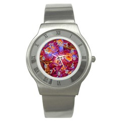 Floral Artstudio 1216 Plastic Flowers Stainless Steel Watch