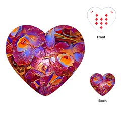 Floral Artstudio 1216 Plastic Flowers Playing Cards (heart)