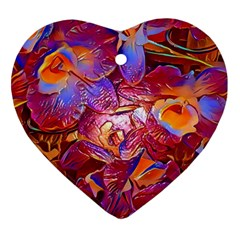 Floral Artstudio 1216 Plastic Flowers Heart Ornament (2 Sides)