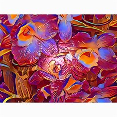 Floral Artstudio 1216 Plastic Flowers Canvas 36  X 48