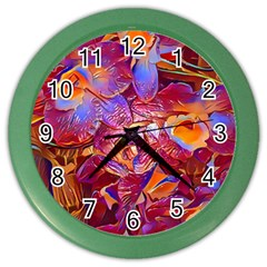 Floral Artstudio 1216 Plastic Flowers Color Wall Clocks