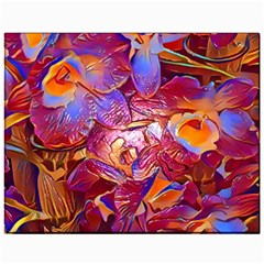 Floral Artstudio 1216 Plastic Flowers Canvas 11  X 14