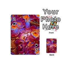 Floral Artstudio 1216 Plastic Flowers Playing Cards 54 (mini)