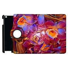 Floral Artstudio 1216 Plastic Flowers Apple Ipad 2 Flip 360 Case