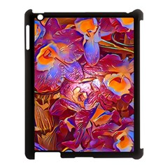 Floral Artstudio 1216 Plastic Flowers Apple Ipad 3/4 Case (black)