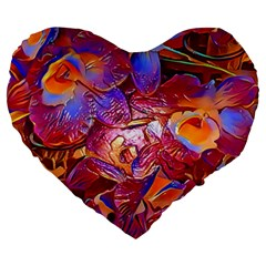 Floral Artstudio 1216 Plastic Flowers Large 19  Premium Heart Shape Cushions