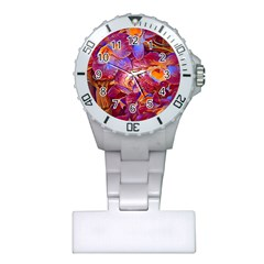 Floral Artstudio 1216 Plastic Flowers Plastic Nurses Watch