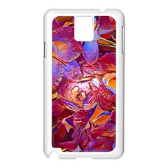 Floral Artstudio 1216 Plastic Flowers Samsung Galaxy Note 3 N9005 Case (white)