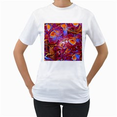 Floral Artstudio 1216 Plastic Flowers Women s T Shirt (white)
