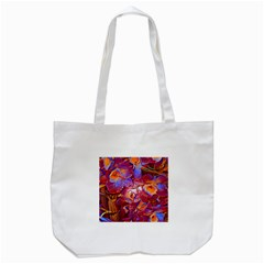 Floral Artstudio 1216 Plastic Flowers Tote Bag (white)