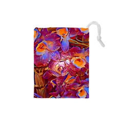 Floral Artstudio 1216 Plastic Flowers Drawstring Pouches (small)