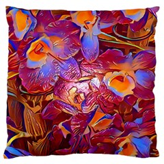 Floral Artstudio 1216 Plastic Flowers Large Flano Cushion Case (one Side)