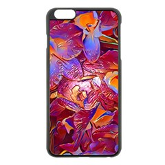 Floral Artstudio 1216 Plastic Flowers Apple Iphone 6 Plus/6s Plus Black Enamel Case