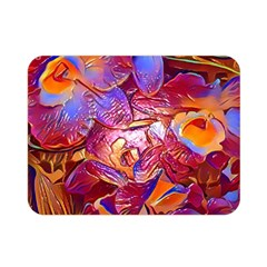 Floral Artstudio 1216 Plastic Flowers Double Sided Flano Blanket (mini)