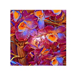 Floral Artstudio 1216 Plastic Flowers Small Satin Scarf (square)