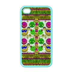 Smile And The Whole World Smiles With You Apple Iphone 4 Case (color) by pepitasart