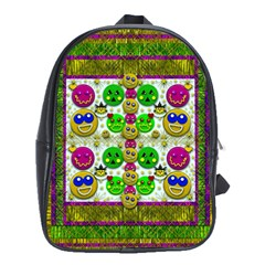 Smile And The Whole World Smiles With You School Bags (xl)  by pepitasart