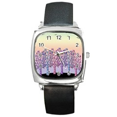 Magical Hill Square Metal Watch by Valentinaart