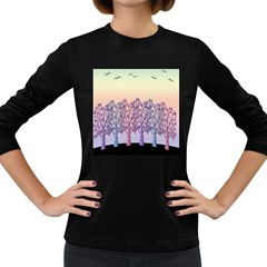 Magical Hill Women s Long Sleeve Dark T Shirts by Valentinaart
