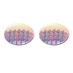 Magical Hill Cufflinks (oval) by Valentinaart