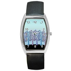 Blue Magical Hill Barrel Style Metal Watch by Valentinaart