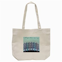 Blue Magical Hill Tote Bag (cream) by Valentinaart
