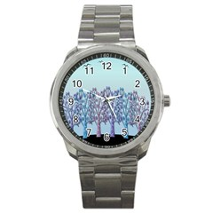 Blue Magical Hill Sport Metal Watch by Valentinaart