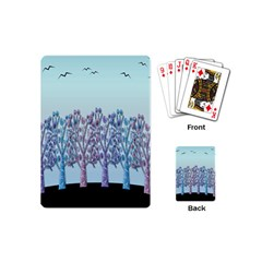 Blue Magical Hill Playing Cards (mini)  by Valentinaart
