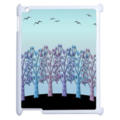 Blue Magical Hill Apple Ipad 2 Case (white) by Valentinaart