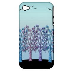 Blue Magical Hill Apple Iphone 4/4s Hardshell Case (pc+silicone) by Valentinaart