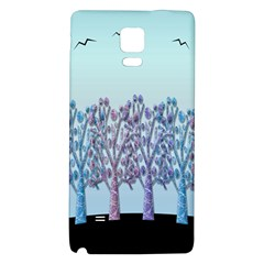 Blue Magical Hill Galaxy Note 4 Back Case by Valentinaart