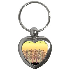 Magical Sunset Key Chains (heart)  by Valentinaart