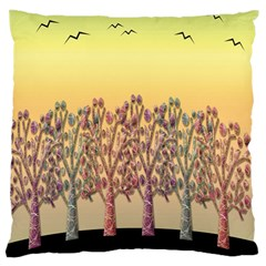 Magical Sunset Large Flano Cushion Case (two Sides) by Valentinaart