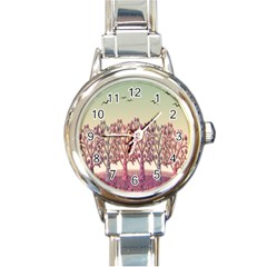 Magical Landscape Round Italian Charm Watch by Valentinaart