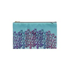 Blue Magical Landscape Cosmetic Bag (small)  by Valentinaart