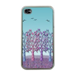 Blue Magical Landscape Apple Iphone 4 Case (clear) by Valentinaart