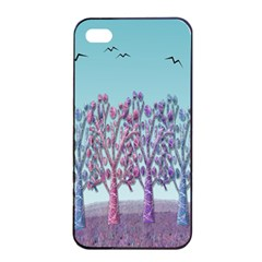 Blue Magical Landscape Apple Iphone 4/4s Seamless Case (black) by Valentinaart