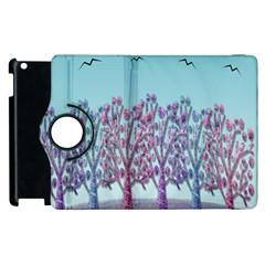 Blue Magical Landscape Apple Ipad 2 Flip 360 Case by Valentinaart