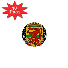 Coat Of Arms Of The Republic Of The Congo 1  Mini Buttons (10 Pack)  by abbeyz71