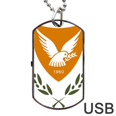 Coat Of Arms Of Cyprus Dog Tag Usb Flash (one Side) by abbeyz71